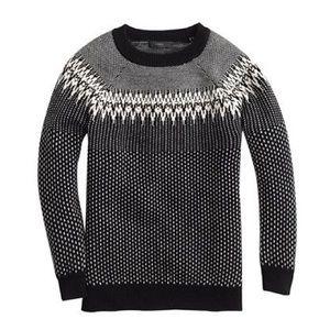 J. Crew merino fair isle sweater size XS